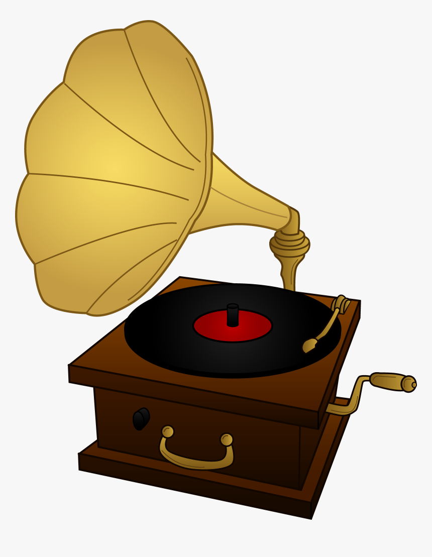 Old Record Player Clipart, HD Png Download, Free Download