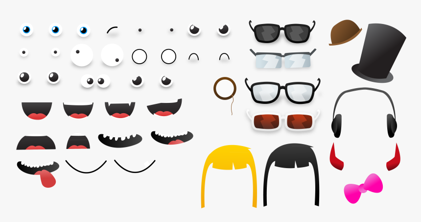 Transparent Cartoon Mouth Png Printable Eyes Ears Nose And Mouth