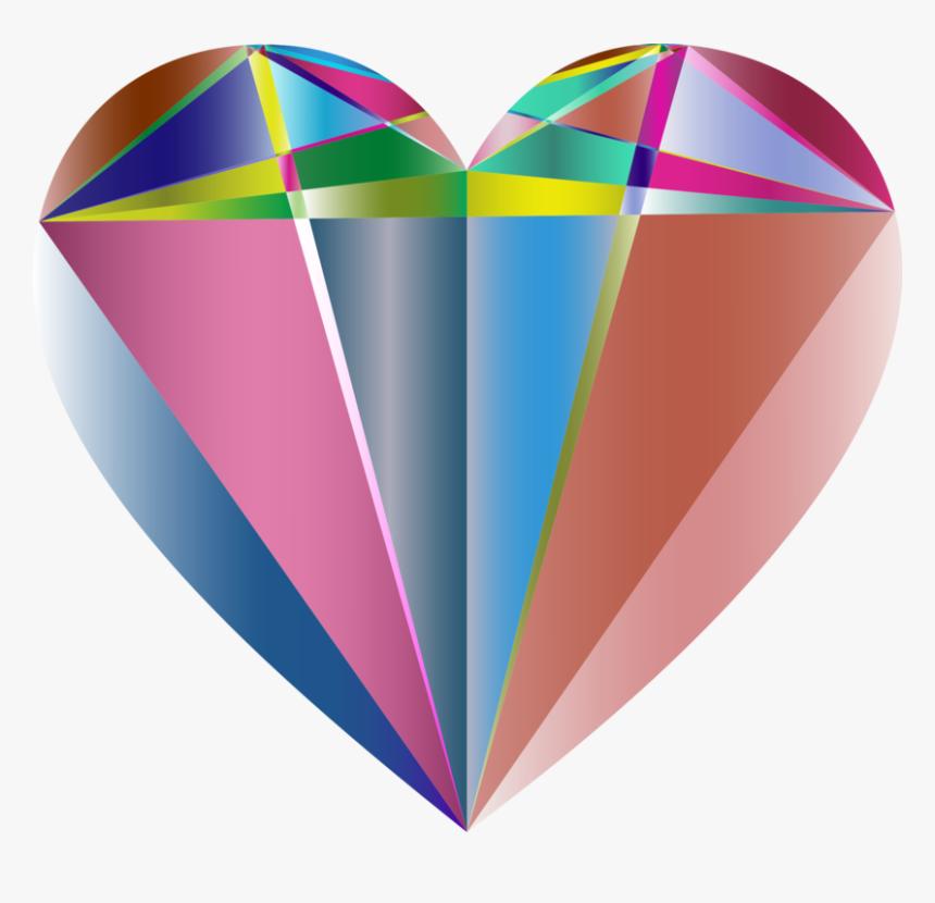 Prismatic Geometric Heart - Geometrical Shape Graphics Design, HD Png Download, Free Download