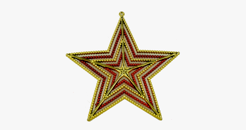 Pendente Pendente Pinha/papai Noel - Gold Star Clear Background, HD Png Download, Free Download
