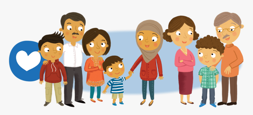 Transparent Happy Family House Clipart Header Family Cartoon Hd Png Download Kindpng
