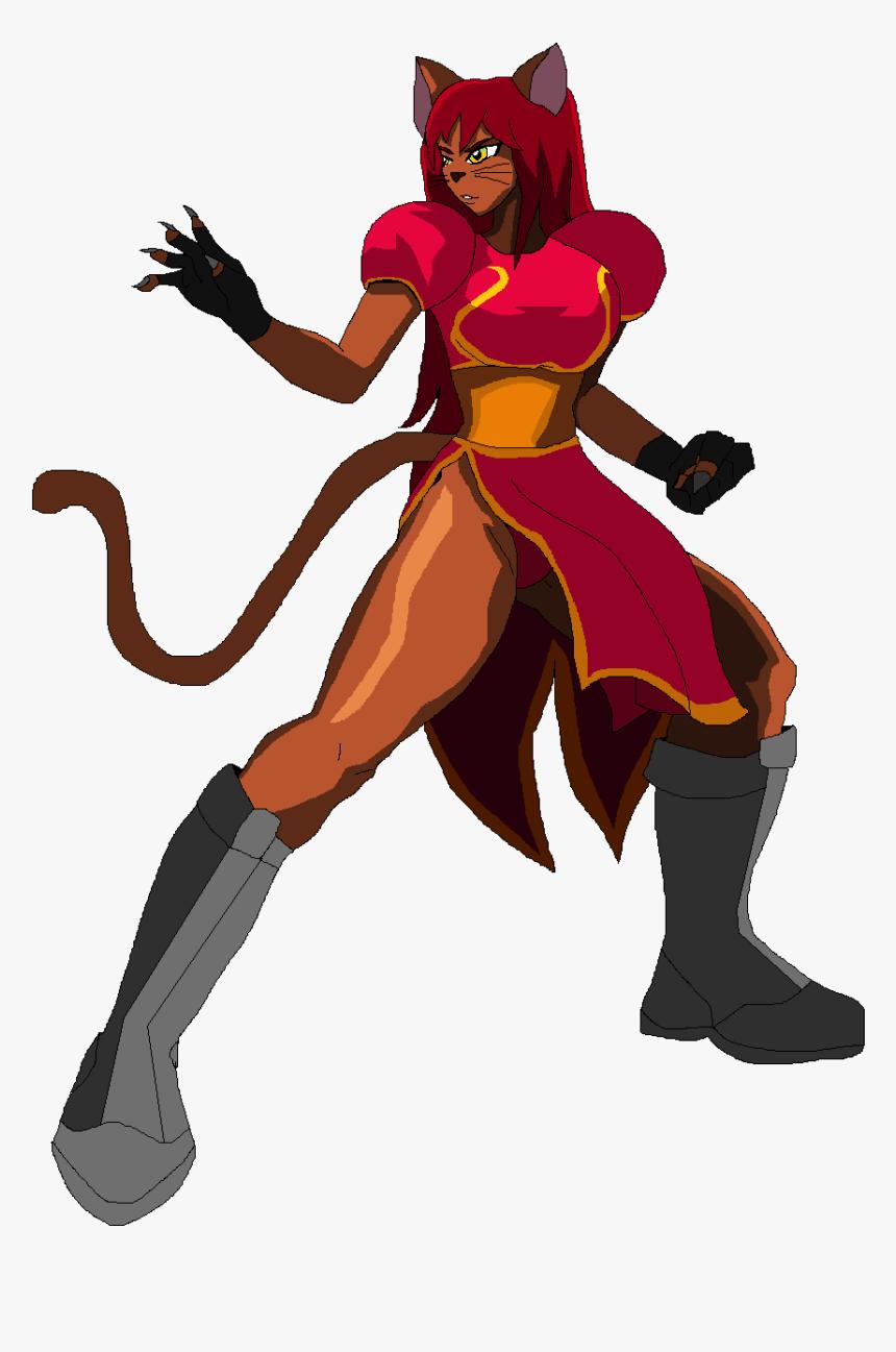 Fireball Studios - Anime Cat Girl Warrior, HD Png Download, Free Download