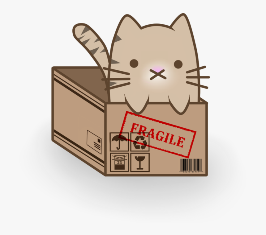 Catgirl Drawing Anime Kitten - Cat In A Box Anime, HD Png Download, Free Download