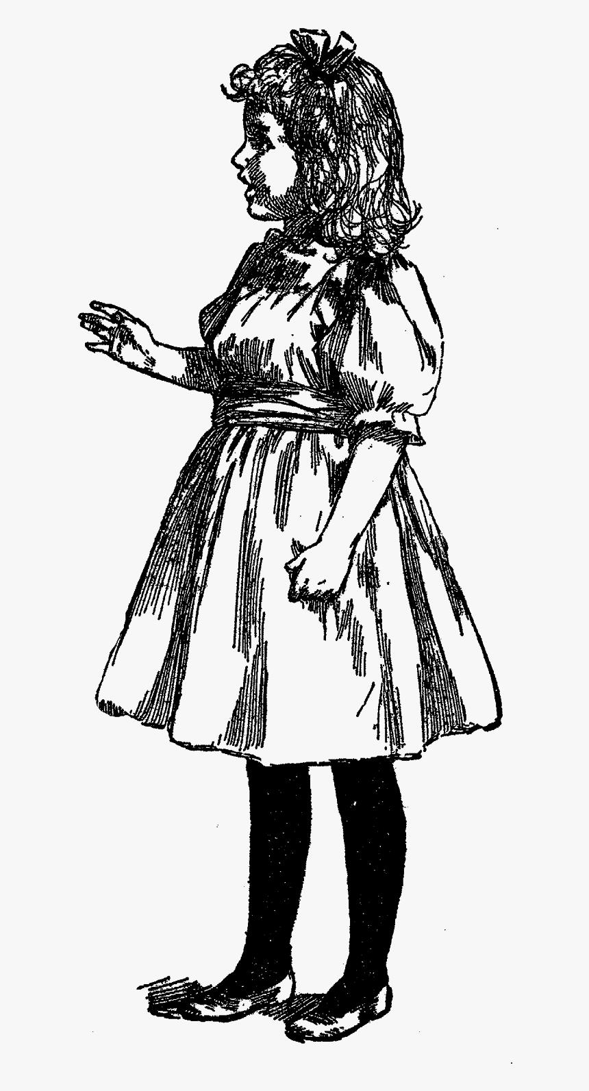 Vintage Girl Artwork Illustration Images - Victorian Girl Illustration, HD Png Download, Free Download