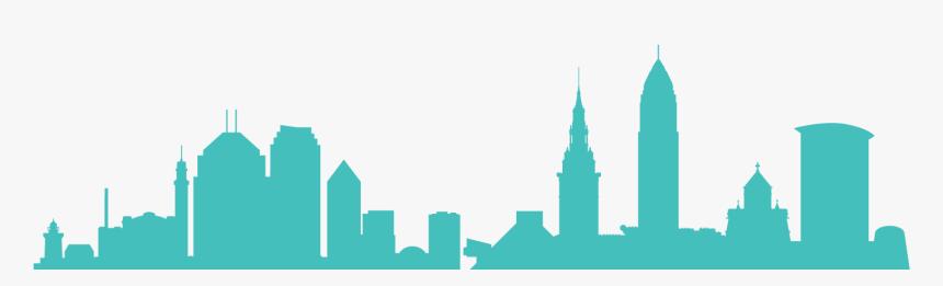 Cleveland Skyline Color 01 - Silueta De Cleveland, HD Png Download, Free Download