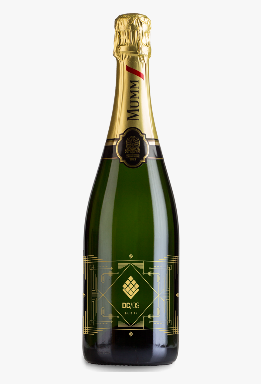 Champagne Etched Business Gift - Wine Bottle Champagne, HD Png Download, Free Download