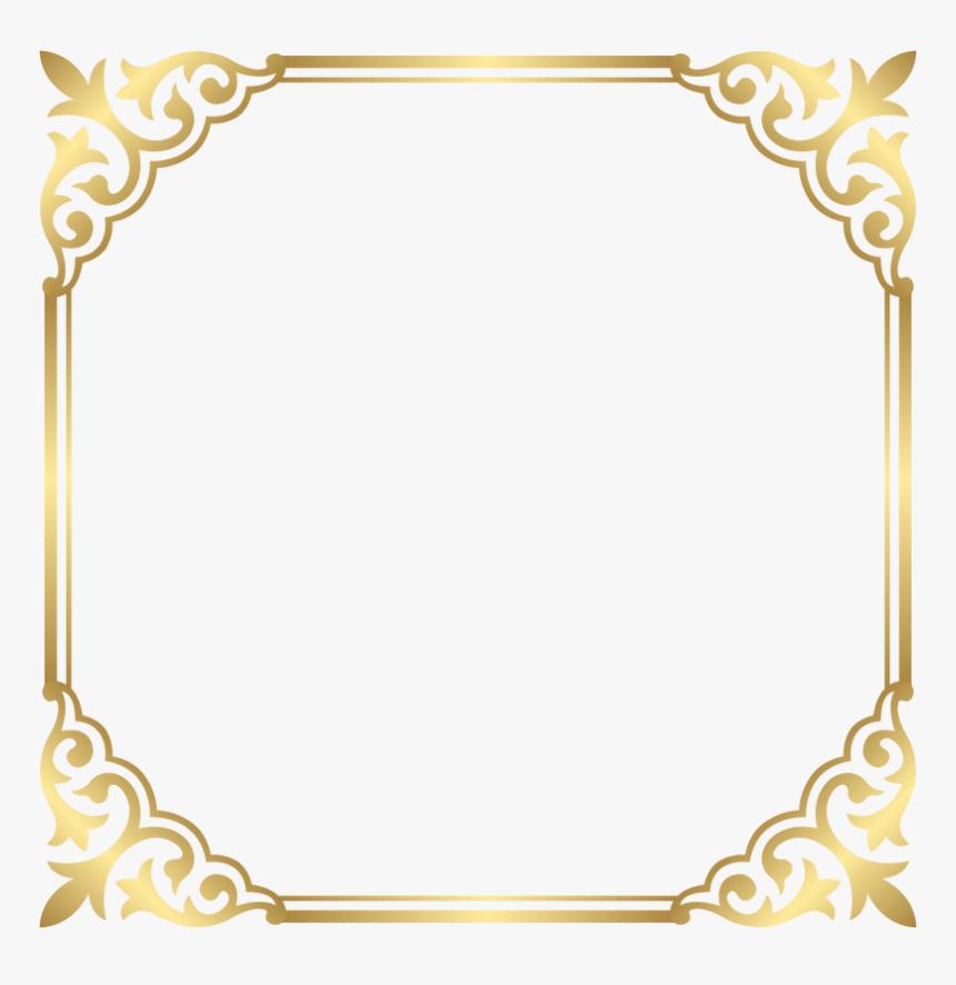 Fancy Frame Clip Art - Gold Border Frame Png, Transparent Png, Free Download