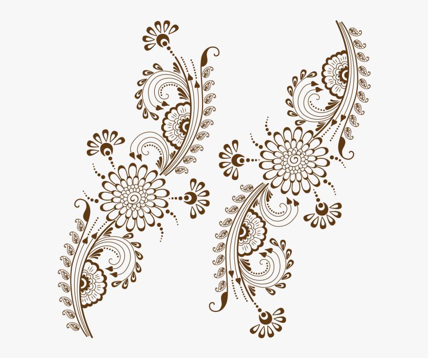 Transparent Vintage Ornament Png - Floral Pattern Mehndi Design, Png Download, Free Download