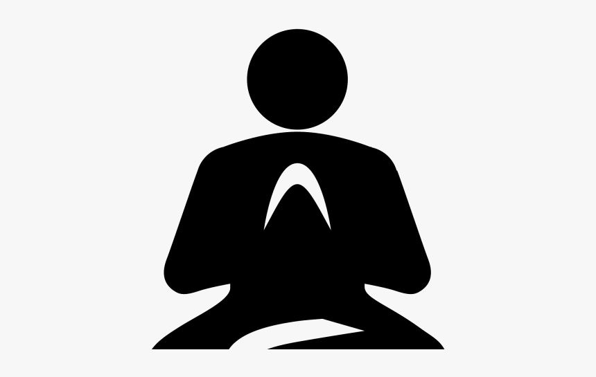 Meditation Clipart Silhouette - Meditation And Mindfulness Icon, HD Png Download, Free Download