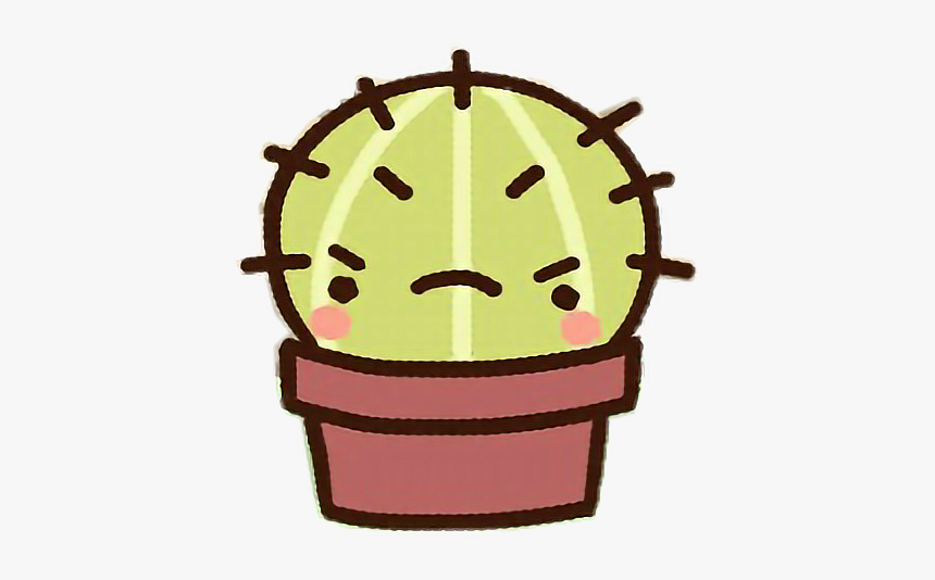 #cartoon #clawbert #cute #fun #kawaii #adorable #sweet - Cute Angry Cactus, HD Png Download, Free Download