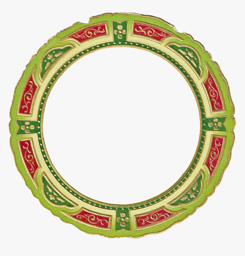 Christmas Picture Frame Clip - Christmas Light Circle Png, Transparent Png, Free Download