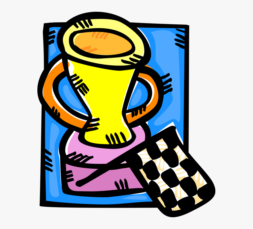 "Vector Illustration Of Auto Racing Winner""s Trophy, HD Png Download, Free Download"