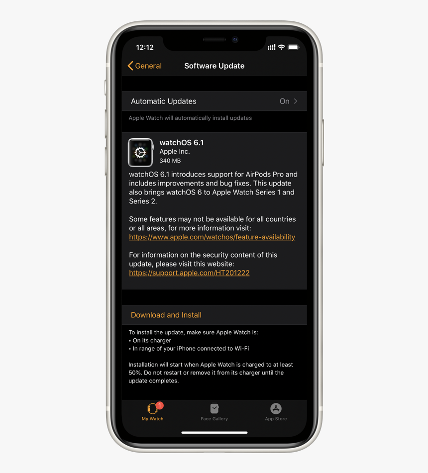 Download Watchos - Watchos 6 For Series 2, HD Png Download, Free Download