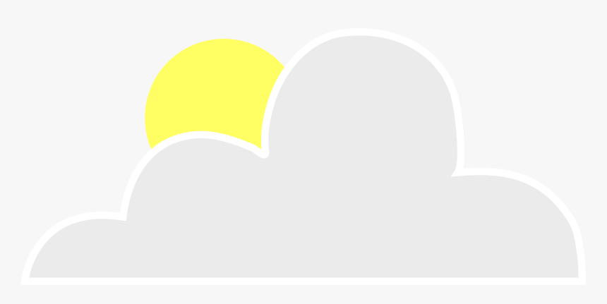 Moon And Cloud Cartoon - Moon Behind Clouds Clipart, HD Png Download, Free Download