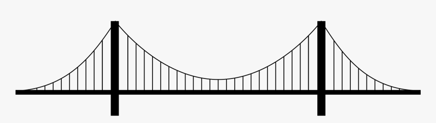 Suspension Bridge Png Image - Drawing Of Suspension Bridge, Transparent Png, Free Download