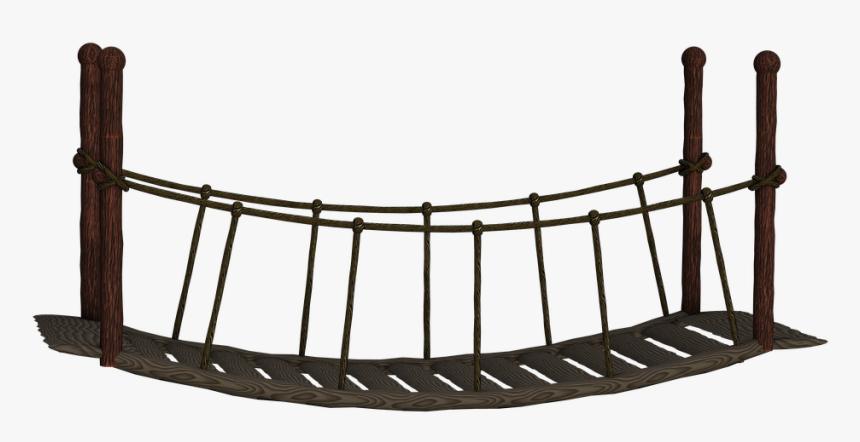 Bridge, Suspension Bridge, Wooden Bridge - Transparent Background Bridge Clipart, HD Png Download, Free Download