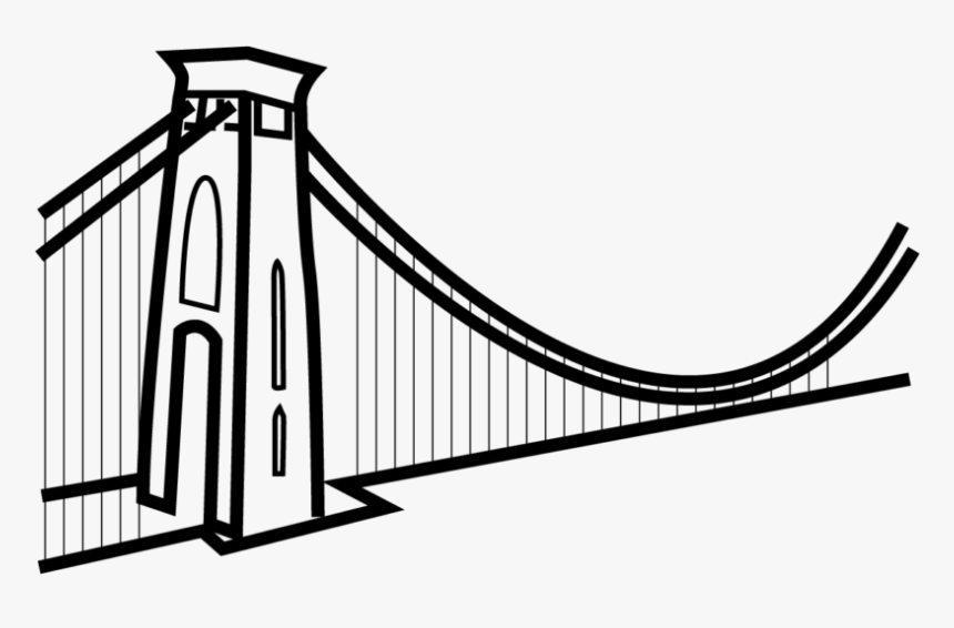 Self-anchored Suspension Bridge - Bristol Suspension Bridge Vector, HD Png Download, Free Download
