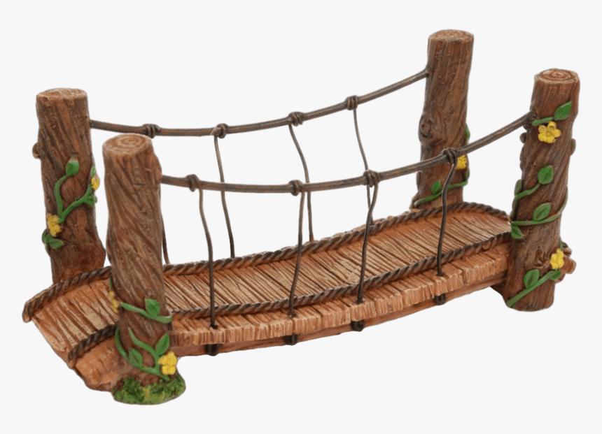 Yükle Download Rope Bridge Png Clipart Simple Suspension - Miniature Fairy Garden Bridge, Transparent Png, Free Download