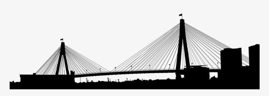 Anzac Bridge, Australia, Silhouette, Sydney, Landscape - Anzac Bridge Vector Icon, HD Png Download, Free Download