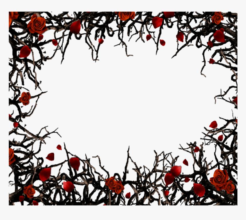 #mq #red #black #roses #gothic #frame #frames #border - Gothic Frame, HD Png Download, Free Download