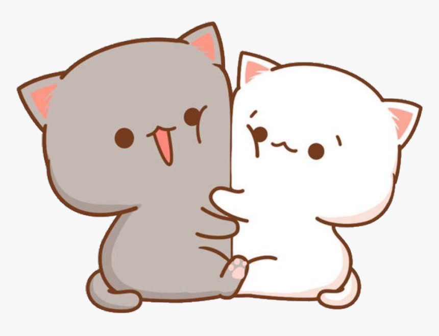 #kawaii #cute #little #hearts #stickers #sticker #png - Chibi Cute Cat Drawing, Transparent Png, Free Download