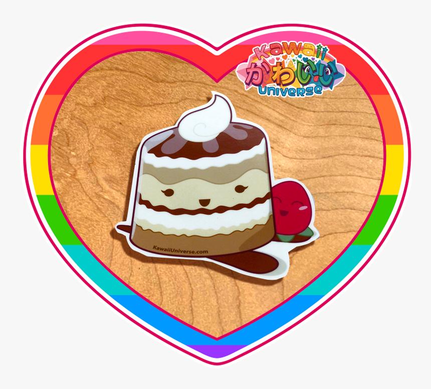 Kawaii Universe Cute Tiramisu Sticker Pic 01 - Kawaii Strawberry Cute Kawaii Strawberry Stickers, HD Png Download, Free Download