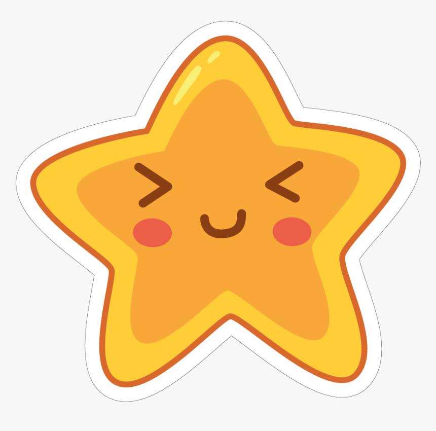 Star Vinyl Custom - Cute Star Sticker Transparent, HD Png Download, Free Download
