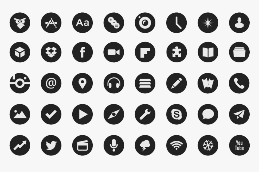 Social Icons Free Round Hd Png Download Kindpng