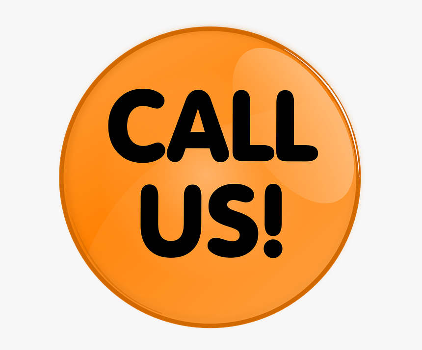 Button, Round, Contact, Call Us, Orange, Icon, Symbol - Call Us Button Icon Png, Transparent Png, Free Download