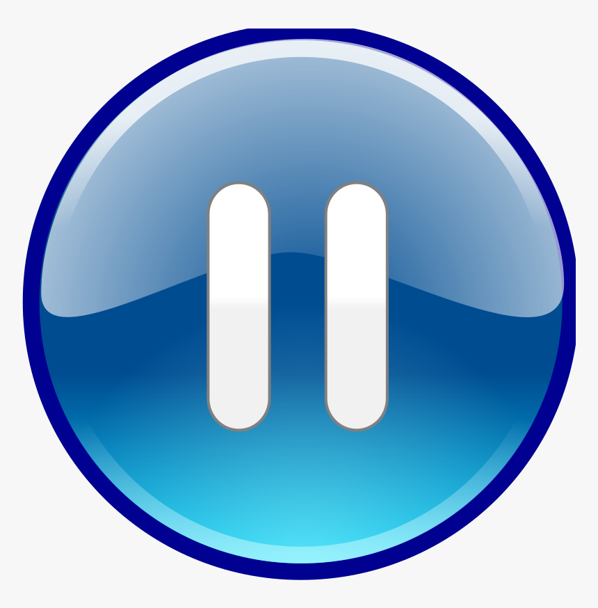 Icon Free Vectors Pause Button Download - Windows Media Player Buttons, HD Png Download, Free Download