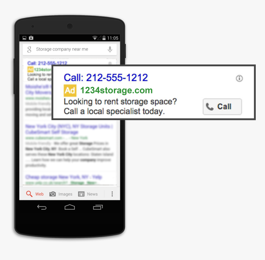 Call Only Campaign Google Ads, HD Png Download, Free Download