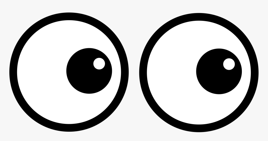 Emoticon Eye Area Big Cartoon Eyes Png Transparent Png Kindpng