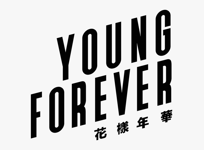 Bts Logo Vector - Young Forever Sticker, HD Png Download, Free Download