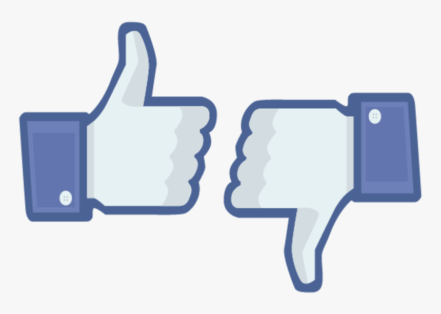 Like Dislike Png - Facebook Thumbs Up And Down, Transparent Png, Free Download