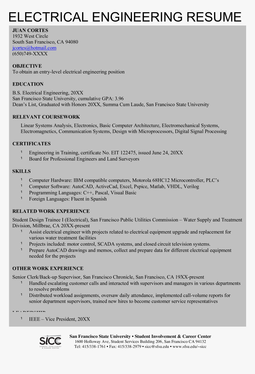 Clip Art Civil Engineering Resume Resume Format For Electrical Engineer Hd Png Download Kindpng