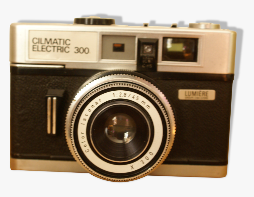 Vintage Camera Light Cilmatic Electric 300 With Leather - Point-and-shoot Camera, HD Png Download, Free Download