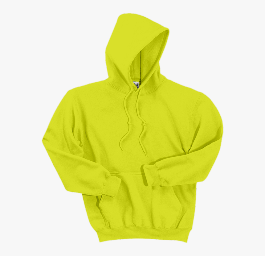 Transparent Sweatshirt Png - Gildan Safety Green Hoodie Png, Png Download, Free Download