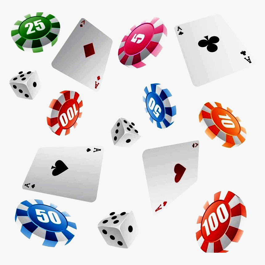 Transparent Dice Icon Png - Poker Card And Token Chip, Png Download, Free Download