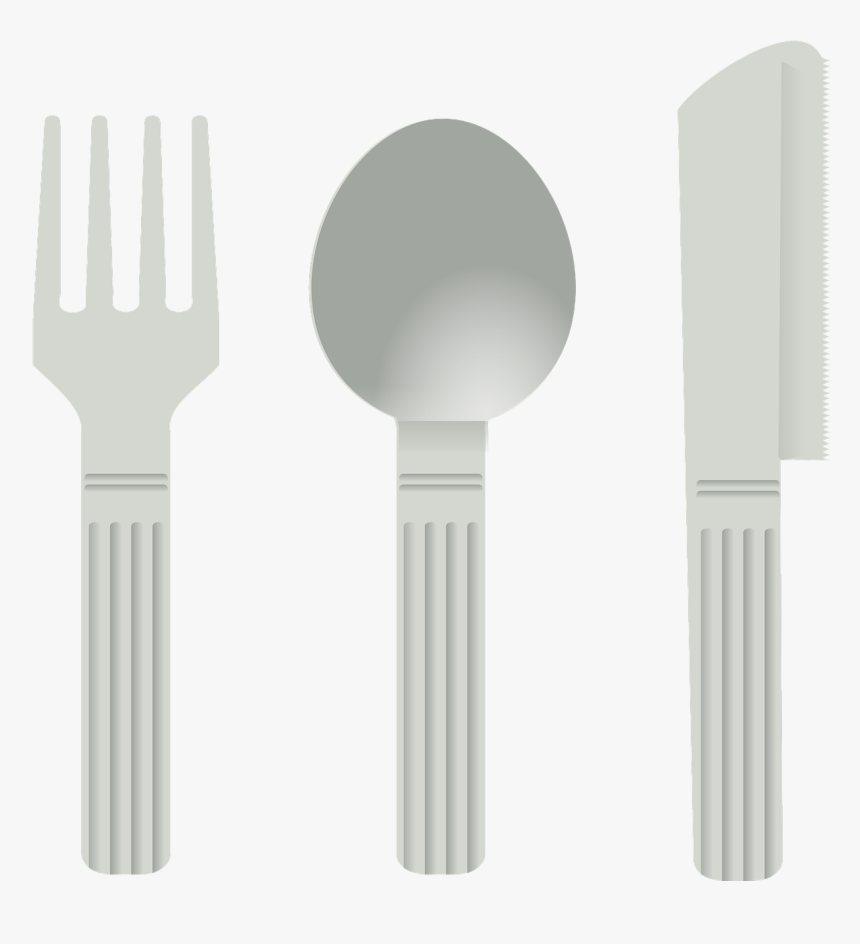Kitchen Utensil Cutlery Tool Clip Art - Spoon And Fork Transparent PNG