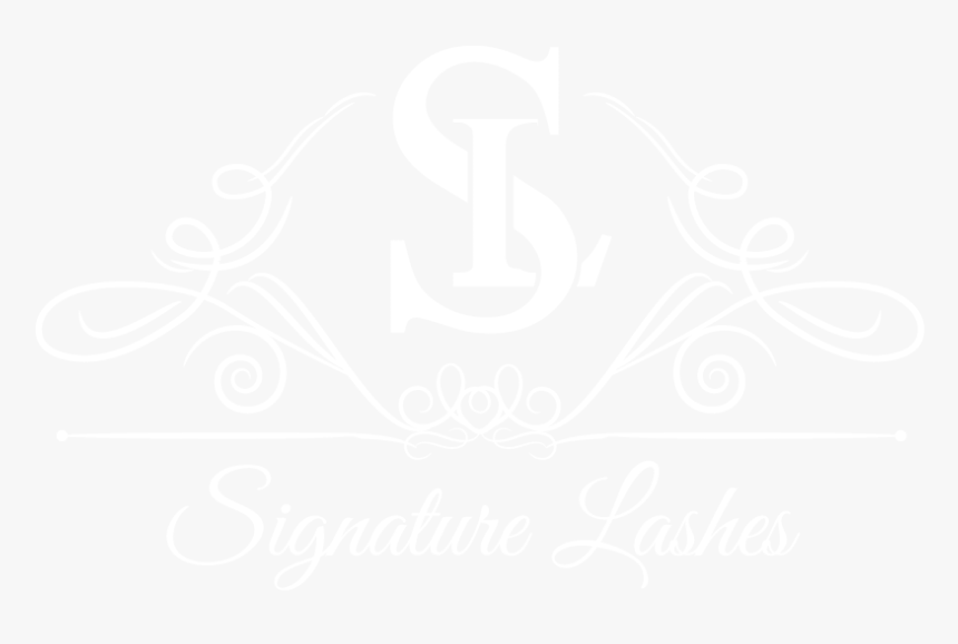 Signature Lashes Hand Crafted Mink Lashes - Johns Hopkins White Logo, HD Png Download, Free Download