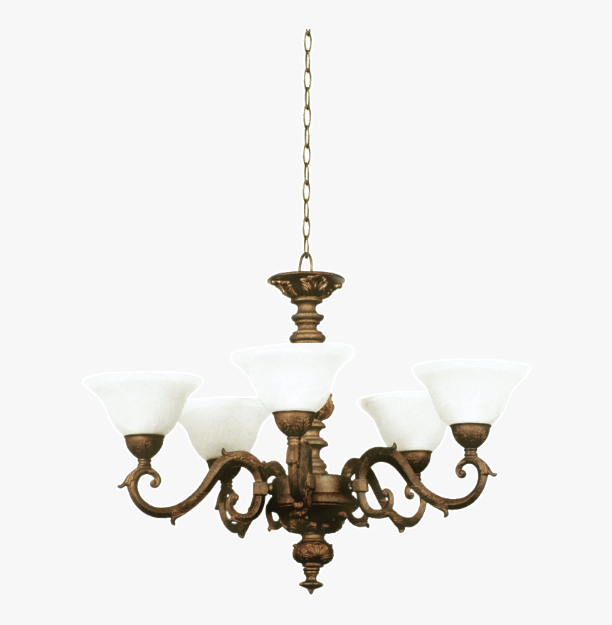 Ch2027/5 Old Gold - Chandelier, HD Png Download, Free Download