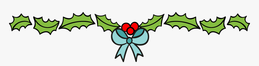 Christmas In July The - Holly Leaves Christmas Page Separator Clipart, HD Png Download, Free Download