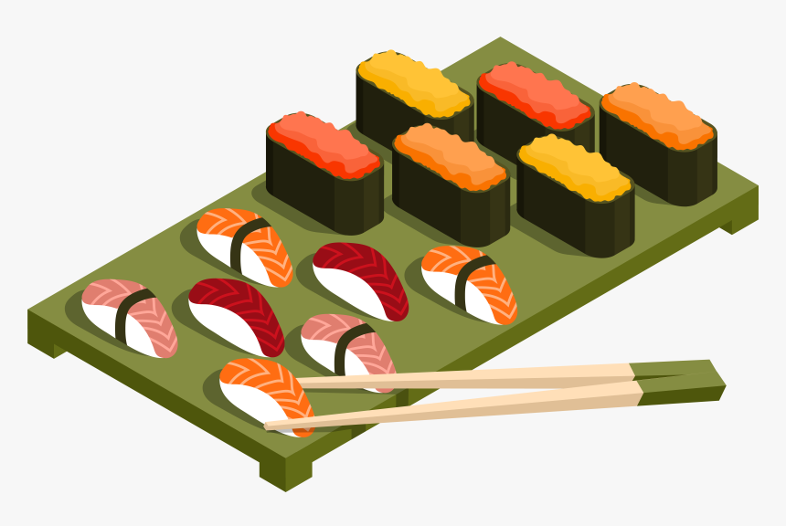 Sushi Clip Art - Japanese Food Clipart, HD Png Download ... (860 x 576 Pixel)