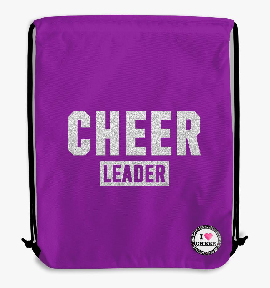 Purple Glitter Cheer Backpack - Messenger Bag, HD Png Download, Free Download