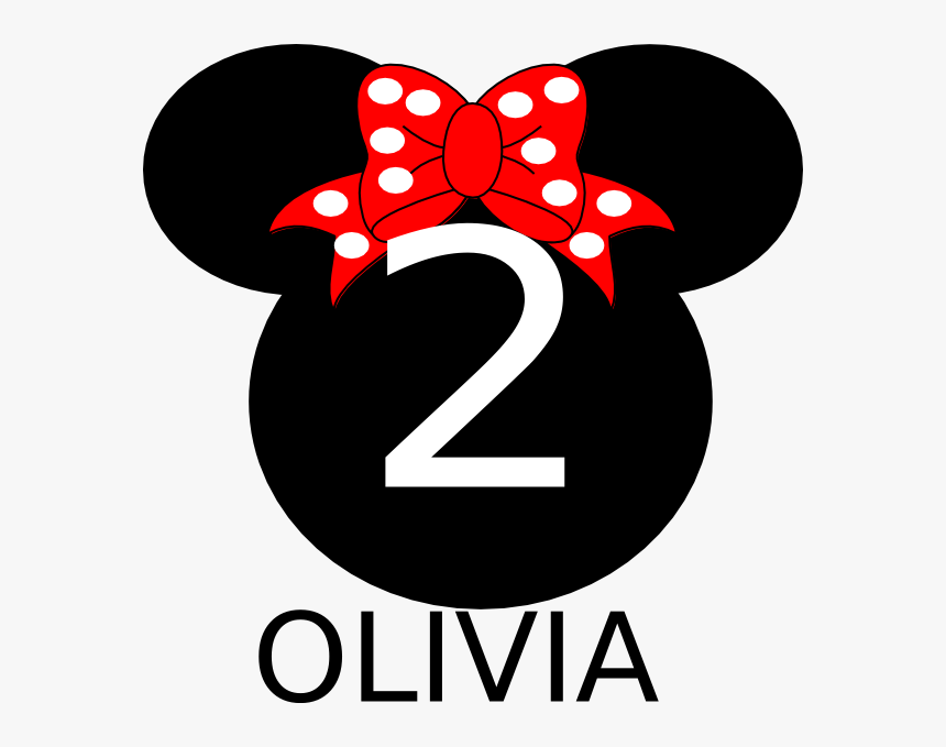 Numero 2 Minnie Png - Minnie Mouse Black Head, Transparent Png, Free Download