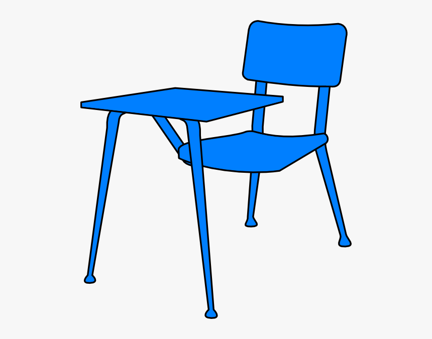 Blue Desk Clip Art - School Desk Clipart, HD Png Download, Free Download