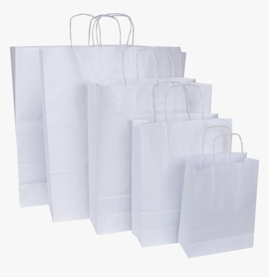 Bolsas Con Asas De Papel Blanco - Bolsas Blancas De Papel, HD Png Download, Free Download