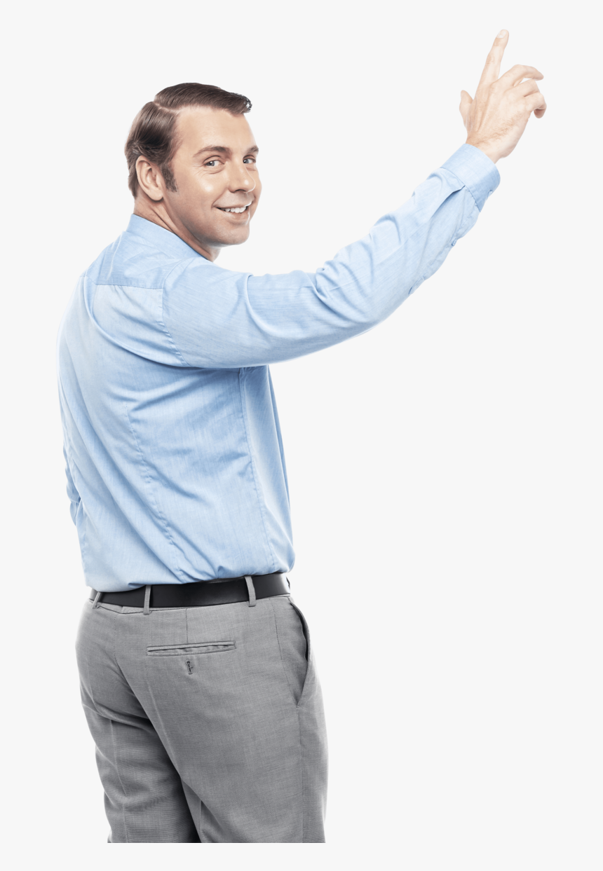 Men Pointing Up - Man Pointing Up Png, Transparent Png, Free Download