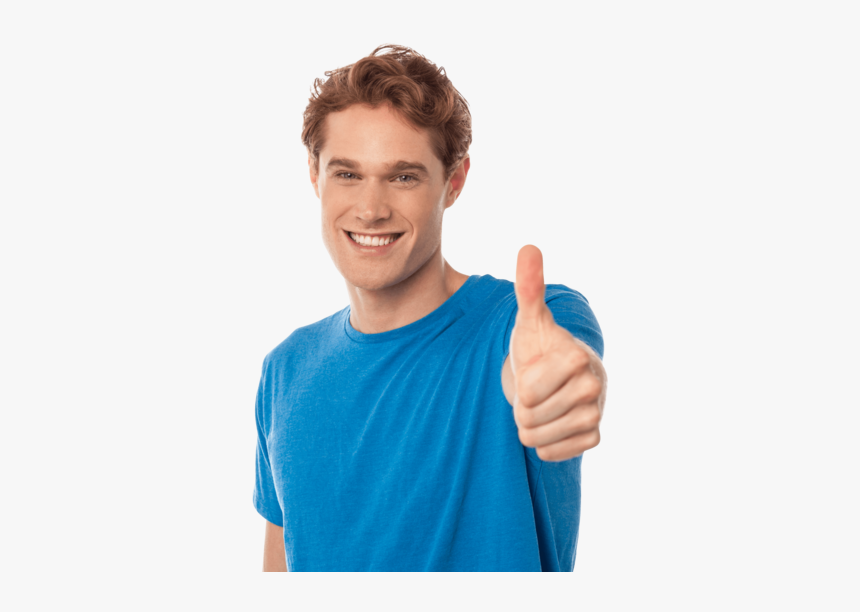 Men Pointing Thumbs Up - Man Thumbs Up Png, Transparent Png, Free Download