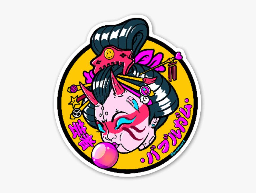Bubblegum Geisha Sticker, HD Png Download, Free Download